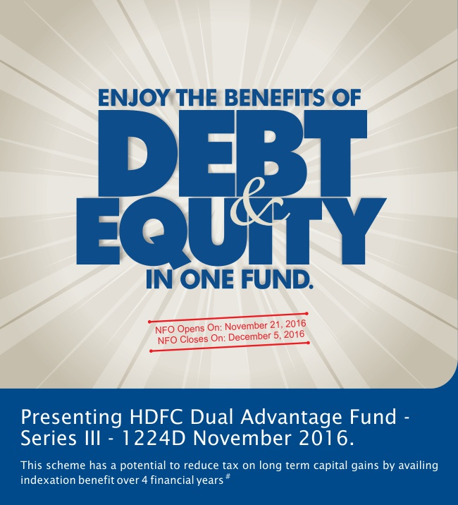 presenting HDFC Dual Advantage Fund - Series III - 1224D November 2016